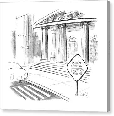 Signed Canvas Print - New Yorker February 8th, 1988 by Donald Reilly