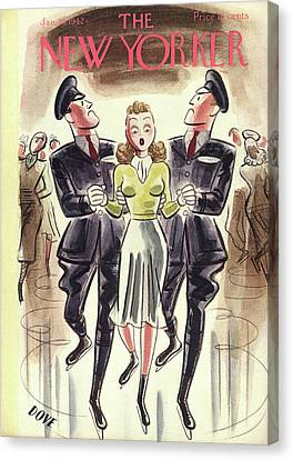 New Yorker January 10th, 1942 Canvas Print by Leonard Dove