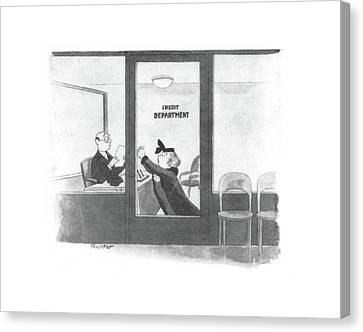 Debt Canvas Print - New Yorker January 10th, 1942 by Mischa Richter