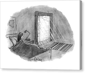 Venetian Blinds Canvas Print - New Yorker January 10th, 1994 by Mort Gerberg