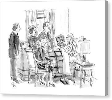 New Yorker January 11th, 1988 Canvas Print by Everett Opie