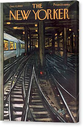 New Yorker January 12th, 1963 Canvas Print by Arthur Getz