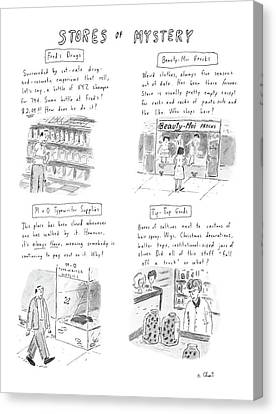 Out-of-date Canvas Print - New Yorker January 13th, 1986 by Roz Chast