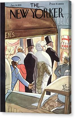 New Yorker January 14th, 1933 Canvas Print