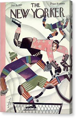 New Yorker January 15th, 1927 Canvas Print by Constantin Alajalov