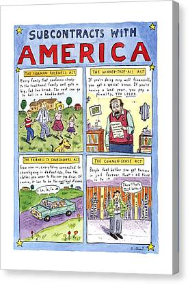 Newts Canvas Print - New Yorker January 16th, 1995 by Roz Chast