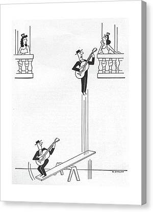 Senorita Canvas Print - New Yorker January 17th, 1959 by Otto Soglow