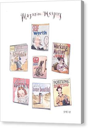 Merged Canvas Print - New Yorker January 18th, 1999 by Barry Blitt