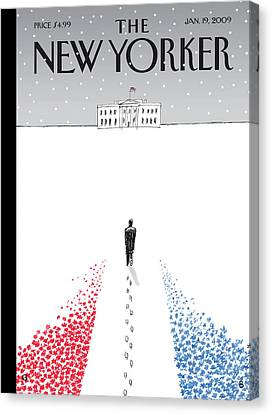 New Yorker January 19th, 2009 Canvas Print