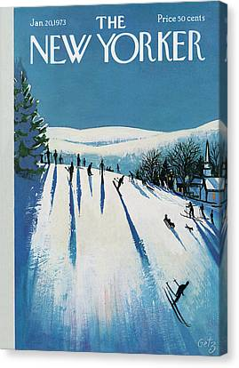January Canvas Print - New Yorker January 20th, 1973 by Arthur Getz