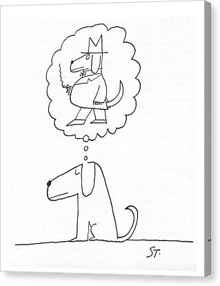 New Yorker January 21st, 1961 Canvas Print by Saul Steinberg