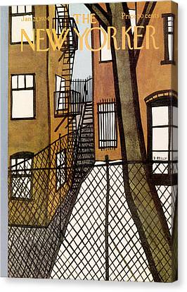 Apartment Canvas Print - New Yorker January 21st, 1974 by Donald Reilly