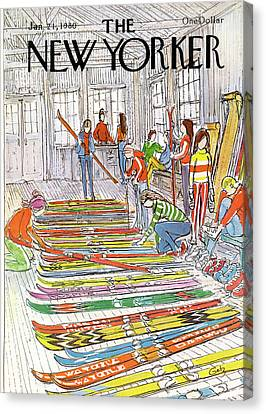 New Yorker January 21st, 1980 Canvas Print
