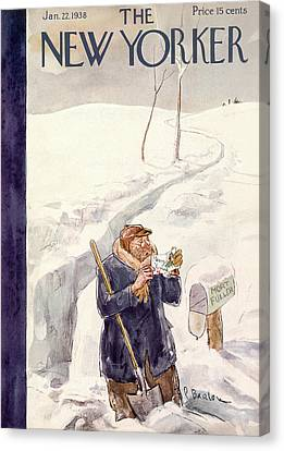 New Yorker January 22nd, 1938 Canvas Print