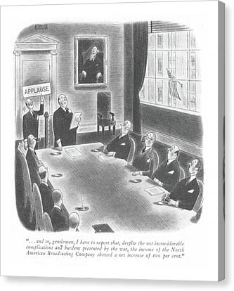 New Yorker January 22nd, 1944 Canvas Print by Richard Taylor