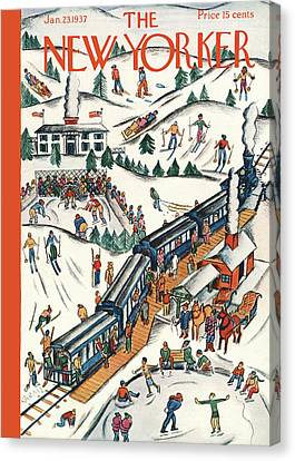New Yorker January 23rd, 1937 Canvas Print