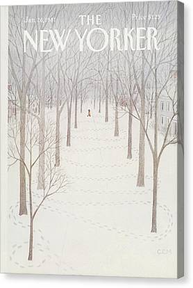 New Yorker January 26th, 1981 Canvas Print