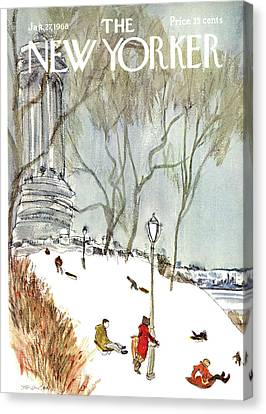 New Yorker January 27th, 1968 Canvas Print