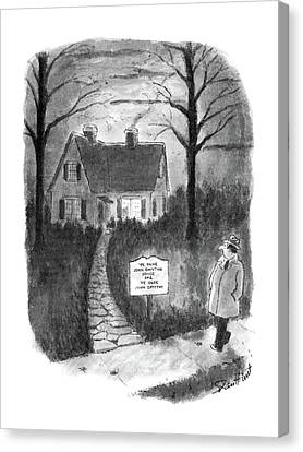 New Yorker January 27th, 1986 Canvas Print by Stan Hunt