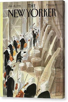 New Yorker January 28th, 1985 Canvas Print by Jean-Jacques Sempe