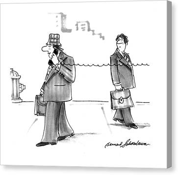 Stretching Canvas Print - New Yorker January 31st, 1994 by Bernard Schoenbaum