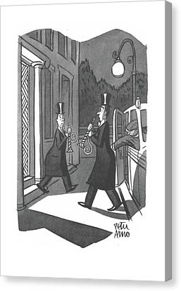 Replacing Canvas Print - New Yorker January 3rd, 1942 by Peter Arno