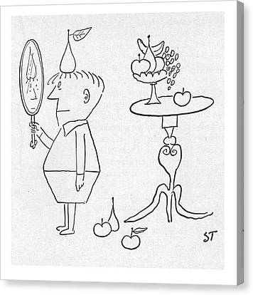 New Yorker January 3rd, 1953 Canvas Print by Saul Steinberg