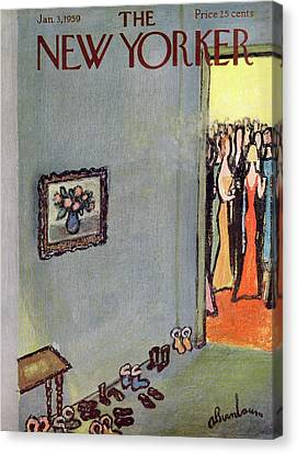 New Yorker January 3rd, 1959 Canvas Print