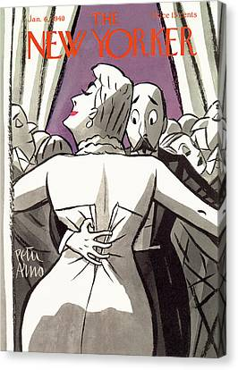 New Yorker January 6th, 1940 Canvas Print by Peter Arno