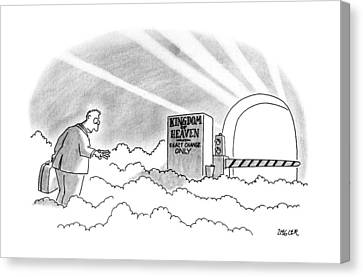 New Yorker January 7th, 1991 Canvas Print by Jack Ziegler