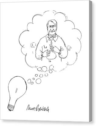 Edison Canvas Print - New Yorker January 7th, 1991 by Mort Gerberg