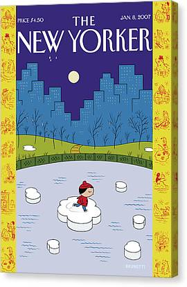 New Yorker January 8th, 2007 Canvas Print by Ivan Brunetti