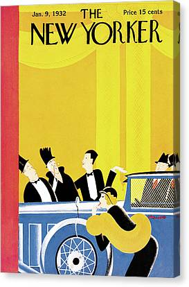 Tuxedo Canvas Print - New Yorker January 9th, 1932 by Theodore G. Haupt