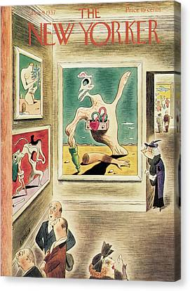 New Yorker January 9th, 1937 Canvas Print by Richard Taylor