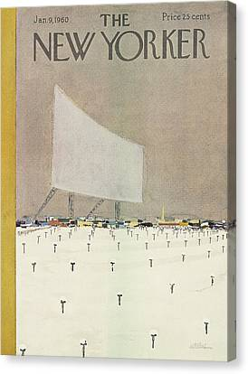 New Yorker January 9th, 1960 Canvas Print by  Alain