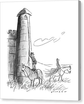 Rapunzel Canvas Print - New Yorker July 11th, 1988 by Bill Woodman