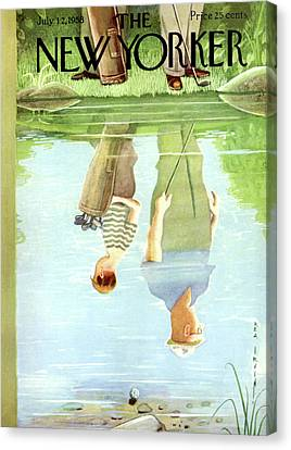 New Yorker July 12th, 1958 Canvas Print by Rea Irvin