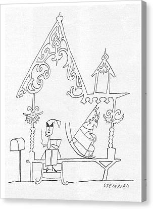New Yorker July 12th, 1958 Canvas Print by Saul Steinberg