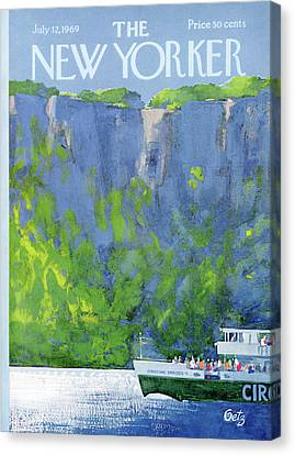 Sightseeing Canvas Print - New Yorker July 12th, 1969 by Arthur Getz