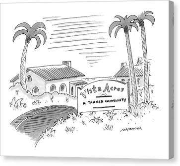 New Yorker July 12th, 1999 Canvas Print by Mick Stevens