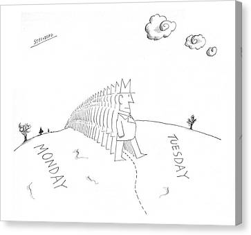 New Yorker July 13th, 1968 Canvas Print by Saul Steinberg