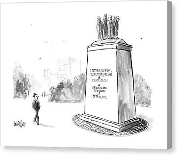 New Yorker July 14th, 1986 Canvas Print by Warren Miller