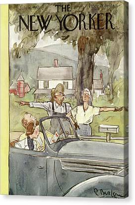 New Yorker July 16th, 1938 Canvas Print