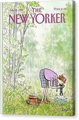 New Yorker July 16th, 1984 Canvas Print by Charles Saxon