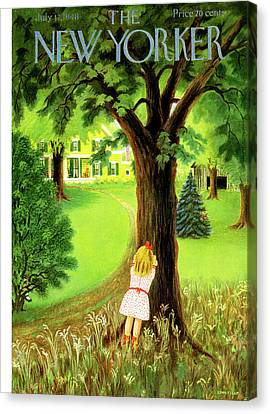 New Yorker July 17th, 1948 Canvas Print by Edna Eicke