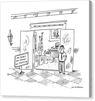 Entrance Canvas Print - New Yorker July 17th, 1995 by Michael Maslin