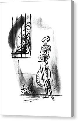 Senorita Canvas Print - New Yorker July 19th, 1941 by Leonard Dove