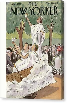 New Yorker July 1st, 1933 Canvas Print by Helen E. Hokinson