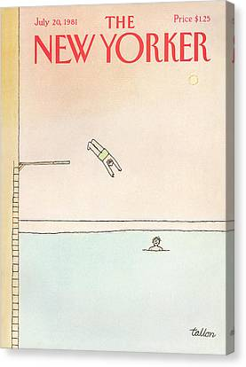 New Yorker July 20th, 1981 Canvas Print by Robert Tallon