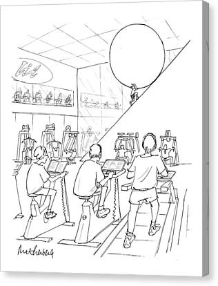 Bike Canvas Print - New Yorker July 20th, 1998 by Mort Gerberg
